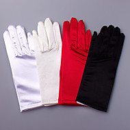Wrist Length Fingertips Glove Satin / Elastic Satin Bridal Gloves / Party/ Evening Gloves Spring / Summer / Fall / Winter