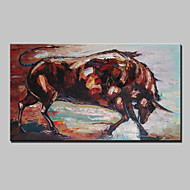 Large Hand Painted Modern Abstract Animal Bull Oil Painting On Canvas Wall Art Picture With Frame Ready To Hang