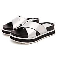 Women's Summer Slippers Customized Materials Casual Platform Black / Silver