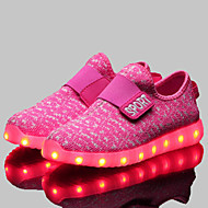 LED Light Up Shoes, Girls' Shoes Athletic / Casual Comfort / Novelty Synthetic Fashion Sneakers Black / Blue / Pink / Red