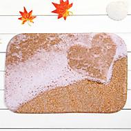 "Hot Sale New Designed Coral Fleece Material Non-Slip Rectangle Mat W16"" x L24"""