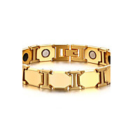 Men's Luxury Jewelry Health Care Gold Stainless Steel Magnetic Therapy Bracelet