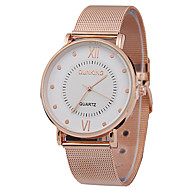 Men's Fashion Ultrathin Belt Watches Rose Gold Watches Net Belt Rome Scale Simple Quartz Watches Individuality Watches
