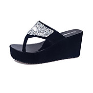 Summer Leatherette Outdoor Casual Platform Creepers Crystal Black White