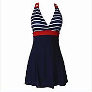 Kvinders Nylon / Spandex Halterneck Kontor / Bedrift Bikini / En del