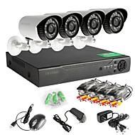 8 csatornás hálózati DVR 960h 4db ahd kültéri CCTV biztonsági kamerák rendszer