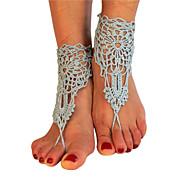 תכשיט לקרסול/צמידים Others עיצוב מיוחד אופנתי מתכווננת מקסים בד אפור נשים תכשיטים 1 זוג