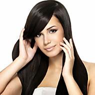 på lager 10-30inch 100% brasilianske menneskehår silke rett naturlig farge blonder foran parykk&u del parykk