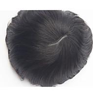 indyjski remy włosy pu peruki peruka włosy zamiennik v pętle cienkiej skóry męskiej perukę