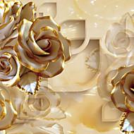 Fleur Fond d'écran pour la maison Luxe Revêtement , Toile Matériel adhésif requis Mural , Couvre Mur Chambre