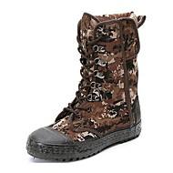 מגפיים גברים של נעליים שטח / משרד ועבודה / קז'ואל / ספורט / Work & Duty חומרים בהתאמה אישית ירוק / אפור-חום