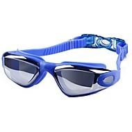 Óculos de Natação Anti-Nevoeiro Anti-Estilhaços Prova-de-Água Resina de Engenharia PC Rosa Preto Azul Prateado N/D
