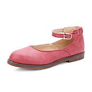Women's Shoes Low Heel Heels / Round Toe Heels Dress / Casual Red / Gray / Almond
