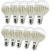 7W E26/E27 LED Λάμπες Σφαίρα C35 12 SMD 5630 600 lm Θερμό Λευκό Διακοσμητικό AC 220-240 V 10 τμχ