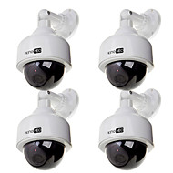 manequim câmera cúpula 4pçs câmera de vigilância de segurança ao ar livre simulado branco
