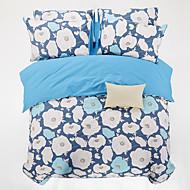 4PC Duvet Cover Set Cotton Floral Pattern