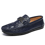 Men's Spring / Summer / Fall Comfort Leather Wedding / Office & Career / Casual Flat Heel Others Black / Blue / White
