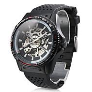 Men's Auto-Mechanical Hollow Dial Rubber Band Watch Wrist Watch Cool Watch Unique Watch