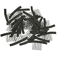 peruca fazer acessórios, pentes peruca e clipes para cap peruca, cor preta, 10pcs preço barato / lot