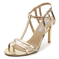 Women's Shoes Leatherette Stiletto Heel Heels / Open Toe Sandals Party & Evening / Dress / Champagne