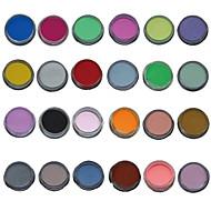 24pcs χρώματος μείγμα καρφί τέχνης ξυλογλυπτική ακρυλική σκόνη