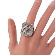 Pierścionki Modny / Postarzane / Korygujący Impreza / Codzienny / Casual Biżuteria Stop Damskie Duże pierścionki 1szt,Regulacja Srebrne