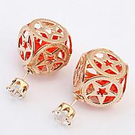 New Fashion Hollow Out Pentagram Geometric Pattern Beads Earrings