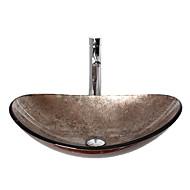 Moderní T12*L540*W360*H165 obdélníkový dřez Materiál je Tvrzené skloKoupelnový dřez / kohoutek do koupelny / Montážní kroužek do koupelny
