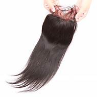 8 10 12 14 16 18 20inch Koromfekete (#1B) Kézi készített Ravno Emberi haj Bezárás Világos barna Svájci csipke 45g gramm Cap Méret