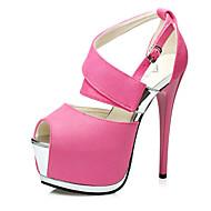 Women's Shoes Velvet Stiletto Heel Heels Sandals Casual Black / Pink / Gray / Burgundy