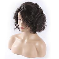 """quente!! cabelo virgem curta cheia do laço brasileiro perucas perucas de cabelo humano 8 """"-30"""" onda peruca dianteira do laço de água"""