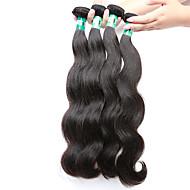 """4 pc / lotto 8 """"-30"""" malese vergine dei capelli umani dell'onda del corpo dei capelli trame di 100% capelli non trattati remy malese tesse"""