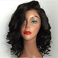 """חַם!! תחרה ברזילאית בתולת שיער מלאה קצרה פאות פאות שיער אדם 8 """"-30"""" פאות חזית תחרה מתולתלת"""