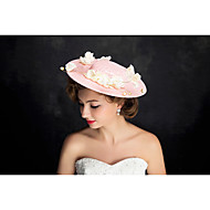 Women's Lace / Pearl / Flax Headpiece-Special Occasion Fascinators 1 Piece Beige