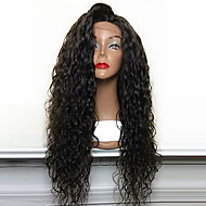 hot selge 180% tetthet løse krøllete naturlige sorte syntetiske blonder foran parykker høy varmebestandig syntetisk hår parykker