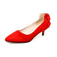 Homme-Bureau & Travail / Habillé / Décontracté-Noir / Rouge / Acajou-Talon Aiguille-Talons / Confort / Bout Pointu-Chaussures à Talons-