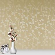 Цветочные / 3D Обои Для дома Современный Облицовка стен , ПВХ/винил материал Клей требуется обои , номер Wallcovering