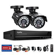 sannce® de 4 canales en tiempo real completa 960H CCTV DVR grabadora de video vigilancia con cámaras 800tvl resistentes a la intemperie de