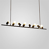 8 Heads Vintage Loft Black Creative Birdie Pendant Lights Wrought Iron Living Room Restaurant Cloths shop chandeliers