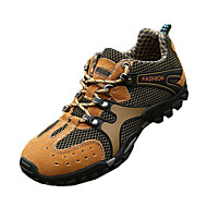 Men's Shoes Tulle / Rubber Outdoor / Athletic Sneakers / Flats Outdoor / Athletic Hiking Flat Heel/ Brown/ Yellow/ Gray