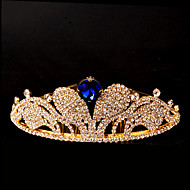Women's Rhinestone Headpiece-Wedding / Special Occasion Tiaras 1 Piece Blue