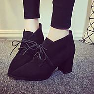 Boots Winter Combat Boots Fleece Casual Chunky Heel Gore Black / Brown