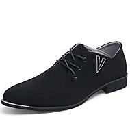 Men's Oxfords Summer Comfort Fabric Casual Flat Heel Others Black / Blue / Gray Walking