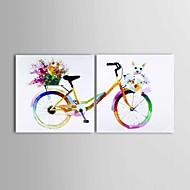 Ručně malované Abstraktní / Krajina / Zátiší olejomalby,Moderní / Klasický / Pastýřský / evropský styl Dva panely PlátnoHang-malované