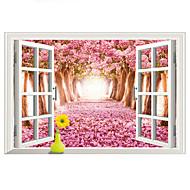 Landschaft Wand-Sticker Flugzeug-Wand Sticker / 3D Wand Sticker Dekorative Wand Sticker,PVC Stoff Abziehbar Haus Dekoration Wandtattoo