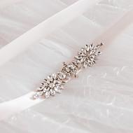Satin Wedding / Party/ Evening / Dailywear Sash-Sequins / Beading / Rhinestone Women's 98 ½in(250cm) Sequins / Beading / Rhinestone