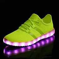 LED Kid Boy Girl Unisex Upgraded USB Charging 7 Colors LED Led Glow Shoe Breathable Sport Shoes Flashing Sneakers  Luminous