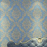 Damaskvev Bakgrunn Luxury Tapetsering , Ikke vævet papir Materiale selvklebende nødvendig bakgrunns , Room wallcovering