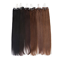 neitsi extension de cheveux de boucle d'anneau micro cheveux remy droite 24inch faisceaux 25g
