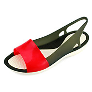 Women's Round Toe Rubber Casual Chunky Heel Blue / Yellow / Purple / Black and Red